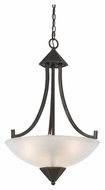 Cal FX-3551/1P Westbrook Dark Bronze Transitional Pendant Lamp