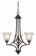 Cal FX-3551/3 Westbrook 16  Wide Dark Bronze Chandelier