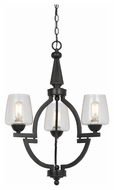 Cal FX-3552/3 Beverly Transitional Dark Bronze Finish Chandelier