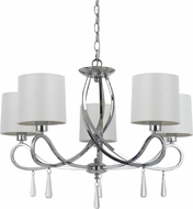 Cal FX-3562-5 Bolsena Chrome Lighting Chandelier
