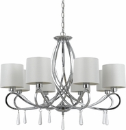 Cal FX-3562-8 Bolsena Chrome Chandelier Lamp