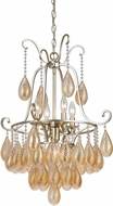 Cal FX-3591-5 Marion Modern Warm Silver Mini Chandelier Lighting