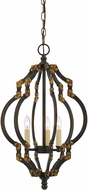 Cal FX-3593-3 Howell Contemporary Iron/Antiqued Gold Foyer Lighting