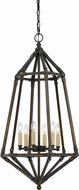 Cal FX-3594-6 Denmark Contemporary Dark Bronze Foyer Lighting Fixture