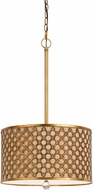 Cal FX-3597-1P Fairview Modern French Gold Drum Pendant Light