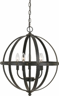 Cal FX-3601-5 Benavides Contemporary Iron Pendant Light Fixture