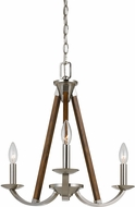 Cal FX-3604-3 Monica Brushed Steel Mini Lighting Chandelier
