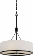 Cal FX-3612-3P Channing Contemporary Black Drum Pendant Lighting