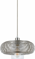 Cal FX-3613-1P Wilshire Contemporary Brushed Steel Pendant Light