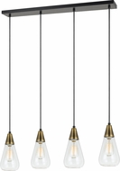 Cal FX-3623-4P Ellyn Contemporary Antique Brass Multi Hanging Pendant Lighting