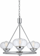 Cal FX-3624-3 Maywood Contemporary Chrome Mini Hanging Chandelier