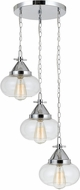 Cal FX-3624-3P Maywood Modern Chrome Multi Hanging Light Fixture