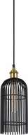Cal FX-3626-1P Birdcage Modern Dark Bronze / Antique Brass Mini Ceiling Light Pendant