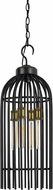 Cal FX-3626-4 Birdcage Modern Dark Bronze / Antique Brass Drop Ceiling Light Fixture
