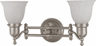 Cal LA-192 Brushed Steel 2-Light Bathroom Lighting