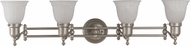 Cal LA-194 Brushed Steel 4-Light Bath Lighting