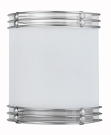 Cal LA-8503-2L Brushed Steel Fluorescent Wall Sconce Lighting