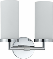 Cal LA-8504-2 Chrome Fluorescent 2-Light Bathroom Light Fixture