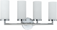 Cal LA-8504-4 Chrome Fluorescent 4-Light Bathroom Vanity Lighting