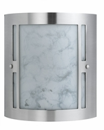 Cal LA-8509-2L Brushed Steel Fluorescent Wall Lighting Fixture