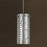 Cal PN-1019-6 Contemporary Line Voltage Smoked Mini Pendant Hanging Light