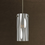 Cal PN-1020-6 Modern Line Voltage Smoked Mini Hanging Light Fixture