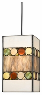 Cal PN-1090/6-BK Tiffany Contemporary Tiffany Finish Pendant Hanging Light