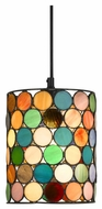 Cal PN-1091/6-BK Tiffany Modern 17  Wide Hanging Light