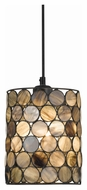 Cal PN-1092/6-BK Tiffany 25  Tall Tiffany Finish Pendant Lamp