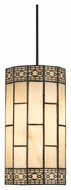 Cal PN-1093/6-BK Tiffany Contemporary 17  Wide Drop Ceiling Lighting