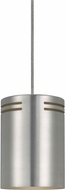 Cal PN-1104-6-BS Contemporary Line Voltage Brushed Steel Halogen Mini Pendant Lighting Fixture