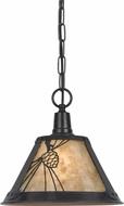 Cal PN-1107-6-RU Pinecone Dark Bronze Mini Hanging Pendant Lighting