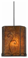 Cal PN-3549/6-BK Richmond Mica Finish 24  Tall Pendant Light