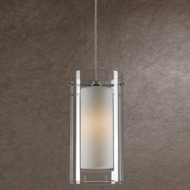 Cal PNL-1051-6 Modern Low Voltage Clear Glass & Frosted Glass Halogen Mini Lighting Pendant