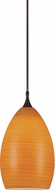 Cal PNL-1061-6 Contemporary Low Voltage Amber Halogen Mini Pendant Light