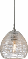 Cal PNL-1063-6 Contemporary Low Voltage Clear Halogen Mini Hanging Light Fixture