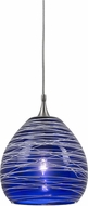 Cal PNL-1065-6 Modern Low Voltage Blue Halogen Mini Ceiling Light Pendant