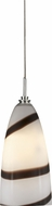 Cal PNL-960-6 Modern Low Voltage Brushed Steel Halogen Mini Pendant Hanging Light