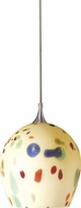 Cal PNL-963-6 Contemporary Low Voltage Brushed Steel Halogen Mini Hanging Light