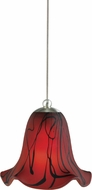 Cal PNL-972-6 Modern Low Voltage Brushed Steel Halogen Mini Hanging Lamp