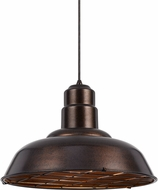 Cal UP-1111-6-RU Ashland Modern Rust Hanging Pendant Light