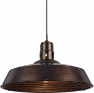 Cal UP-1112-6-RU Danberry Contemporary Rust Drop Lighting