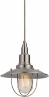 Cal UP-1113-6-BS Allentown Nautical Brushed Steel Mini Pendant Lighting Fixture