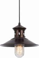 Cal UP-1115-6-RU Binghamton Nautical Rust Ceiling Pendant Light