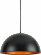 Cal UP-3633-1P Frisco Contemporary Satin Black Pendant Hanging Light