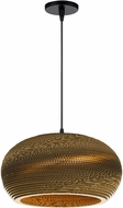 Cal UP-3634-1P Landen Modern Kraft Hanging Light Fixture