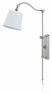 Cal WL-2474-BS Pompano Transitional Brushed Steel Wall Lamp