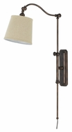 Cal WL-2474-RU Pompano 33.5  Tall Rust Finish Wall Lamp