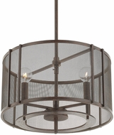 Capital Lighting 311131RS-664 Bennett Contemporary Russet Drum Hanging Light