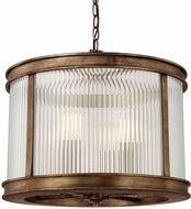 Capital Lighting 312042RT Reid Rustic Drum Pendant Hanging Light